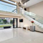 Double volume living room design