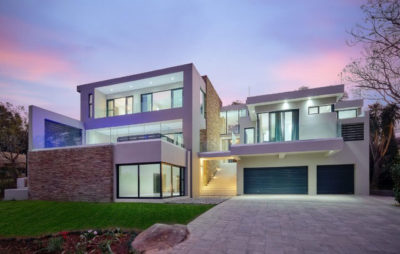 Exterior North View Contemporary residential home
